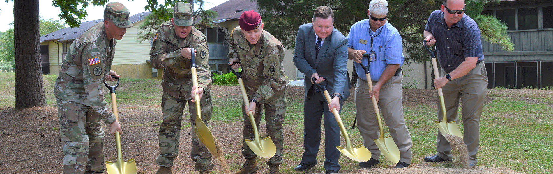 American Water's Military Services Group breaks ground with Fort Polk, LA, installation leaders on a green sand filtration system <br>to improve water quality
